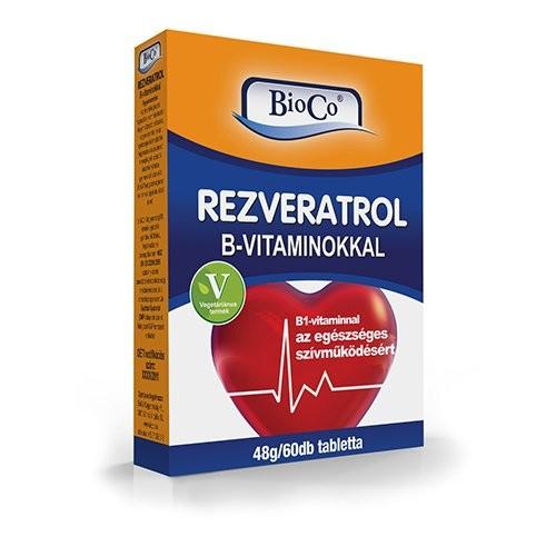 Bioco rezveratrol b-vitaminokkal tabletta